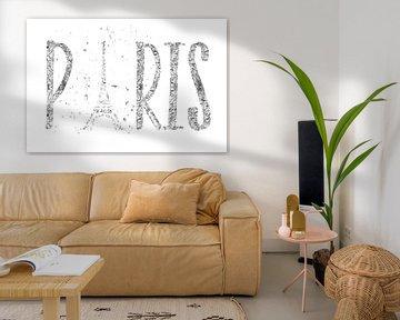 PARIS Typografie | silber & weiß von Melanie Viola