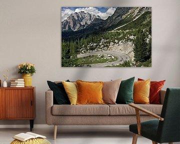 Berglandschap Passo Valparola, Dolomieten van Robert van Willigenburg