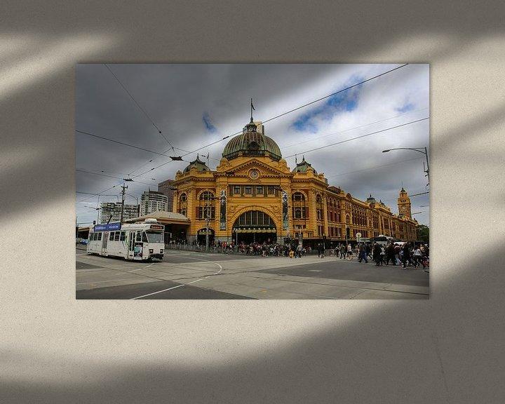 Beispiel: Flinders Street Station in Melbourne, Victoria, Australien von Marcel van den Bos