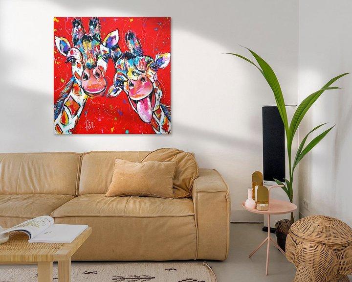 Beispiel: Fröhliche Giraffen von Vrolijk Schilderij