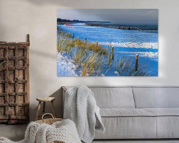 Beispiel: Fischerboot in Zingst im Winter von Rico Ködder