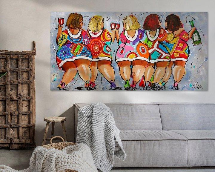 Sfeerimpressie: Proostende dames van Vrolijk Schilderij