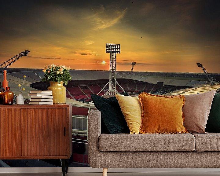 Beispiel fototapete: Afas Stadion Alkmaar von Mario Calma