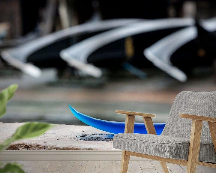Beispiel fototapete: Blaue Gondel von Andreas Müller