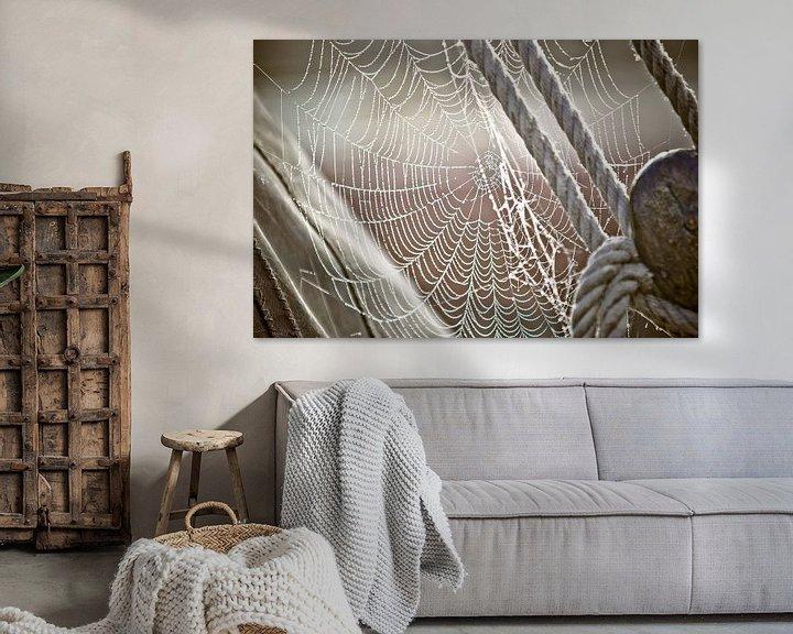 Beispiel: Tau und Spinnennetz auf dem Segelboot von Fotografiecor .nl