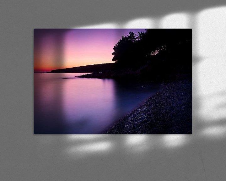Sfeerimpressie: Rust aan zee na zonsondergang van Jesse Meijers