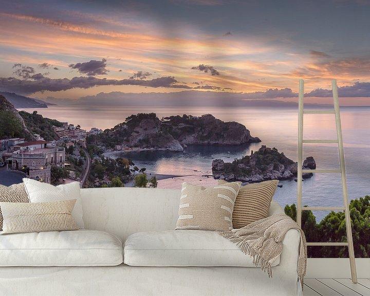 Sfeerimpressie behang: Isola Bella, Taormina, Sicilia - Sicily, Italië van Rene van der Meer