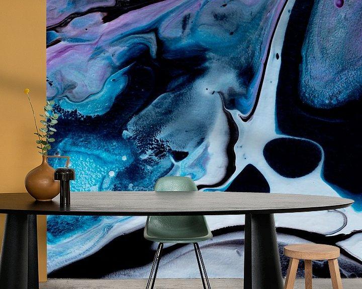 Beispiel fototapete: Blauer Geist von AJ Art