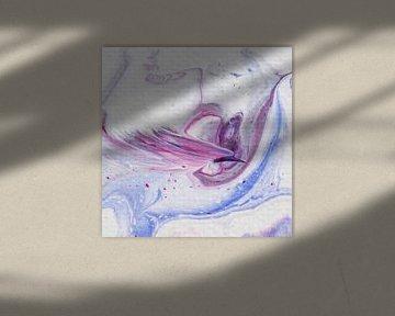 Paradiesvogel rosa von AJ Art