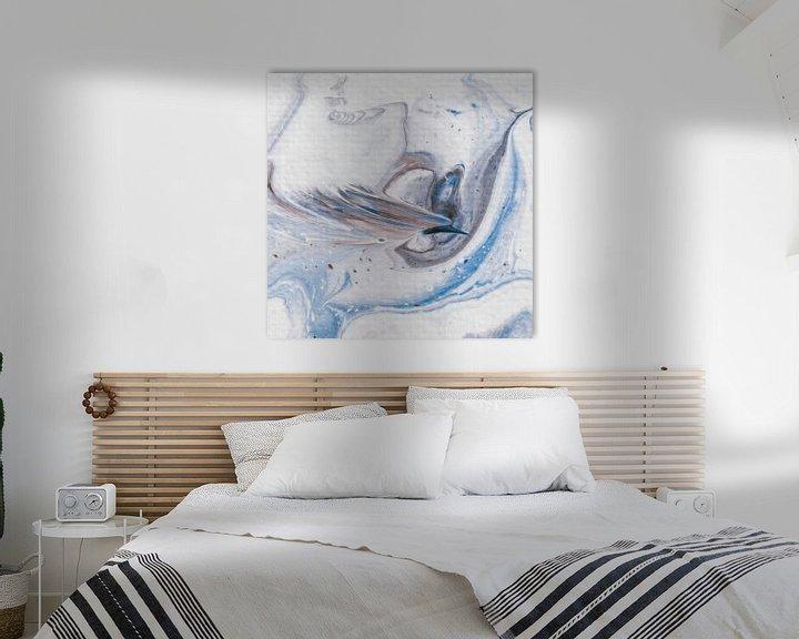 Sfeerimpressie: Paradijsvogel bruin blauw van AJ Art