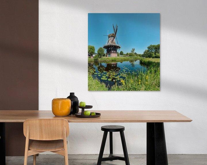 Sfeerimpressie: Stellingmolen Penninga's molen, Joure, , Friesland, Nederland van Rene van der Meer