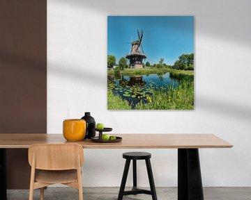 Penninga Windmühle, Joure, Friesland, Niederlande von Rene van der Meer