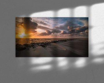 Zonsondergang op Texel van René Sluimer