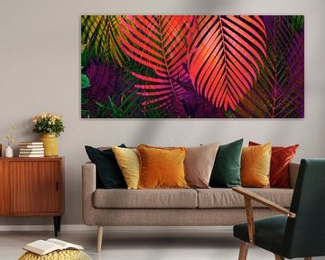 COLORFUL TROPICAL LEAVES no8 van Pia Schneider