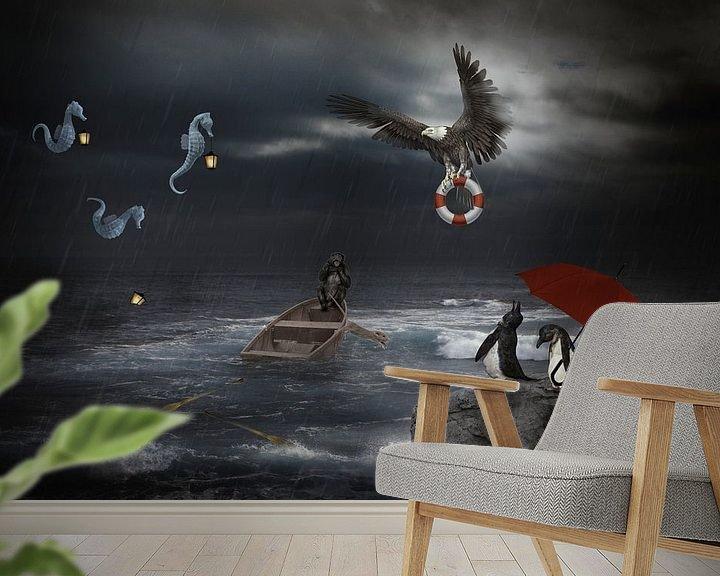 Sfeerimpressie behang: Nood op volle zee van Ursula Di Chito