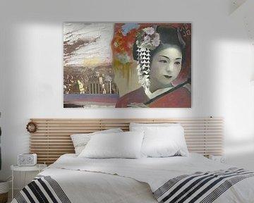 geisha in new york von MD JO