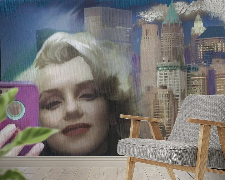 Sfeerimpressie behang: marilyn selfie van MD JO