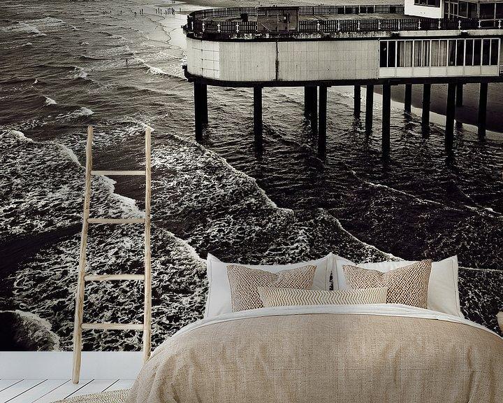 Sfeerimpressie behang: Boven de golven van Ines van Megen-Thijssen