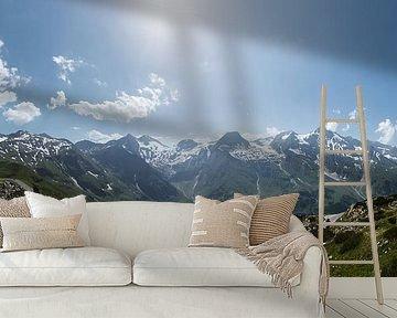 Panorama foto van de Großglockner, Oostenrijk van Martin Stevens