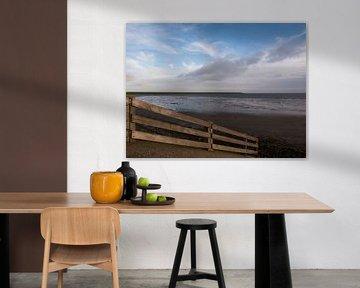 Hek op Waddendijk van Rinke Velds