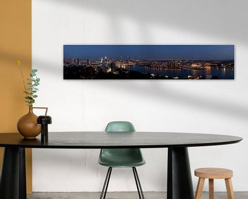Panorama Rotterdam by night von Andre Jansen