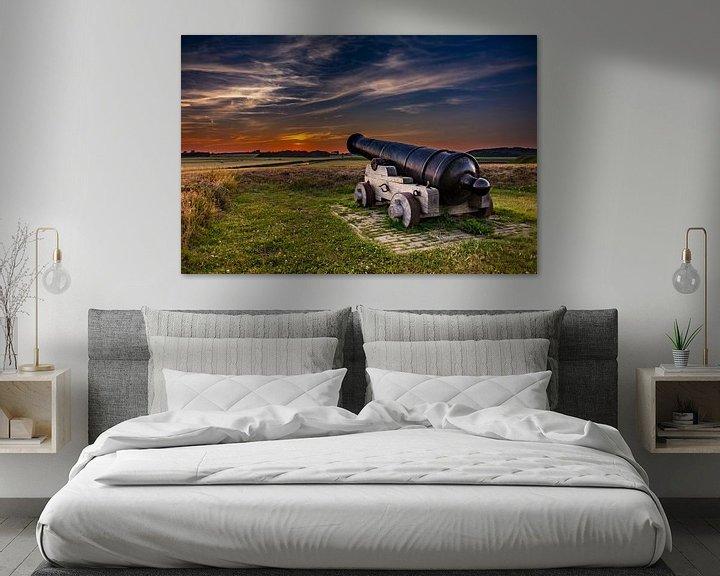 Sfeerimpressie: Kanon Fort de Schans  Texel van Texel360Fotografie Richard Heerschap