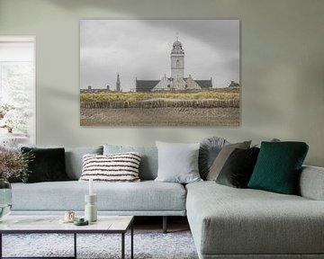 Kerk aan Katwijkse strand sur Dirk van Egmond