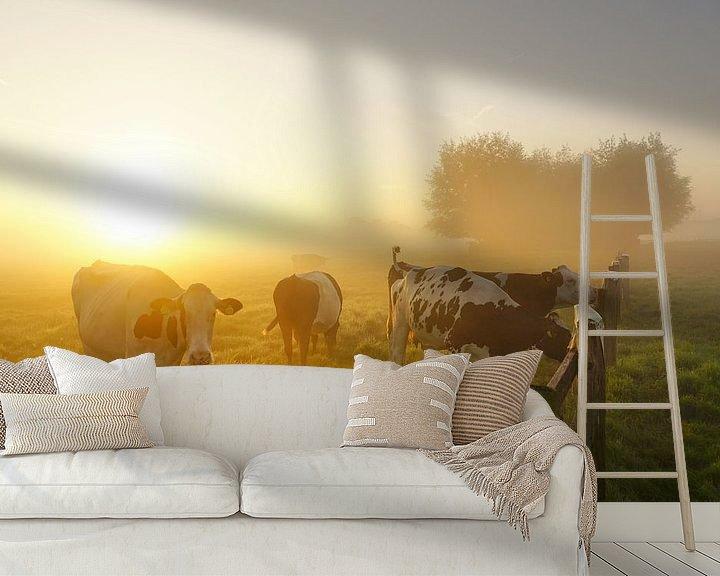 Sfeerimpressie behang: Landschap met dieren van Dirk van Egmond