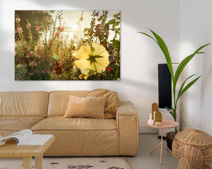 Sfeerimpressie: Bloemen voor De Hef in Rotterdam van Michel van Kooten
