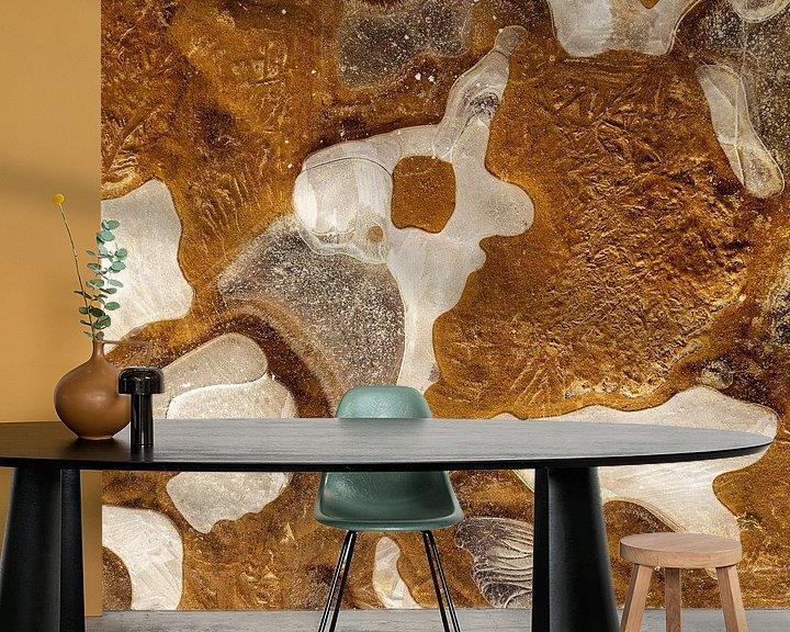 Sfeerimpressie behang: Klein hondje - IJs structuur (gezien bij vtwonen) van Karla Leeftink