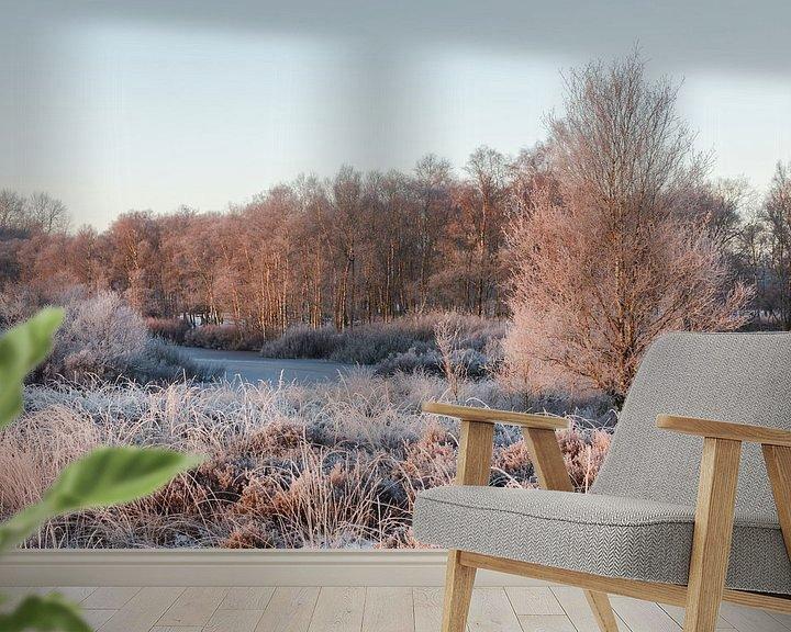 Sfeerimpressie behang: Winter morgen van Karla Leeftink