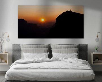 Warme zonsondergang in de Dolomieten van Jesse Meijers