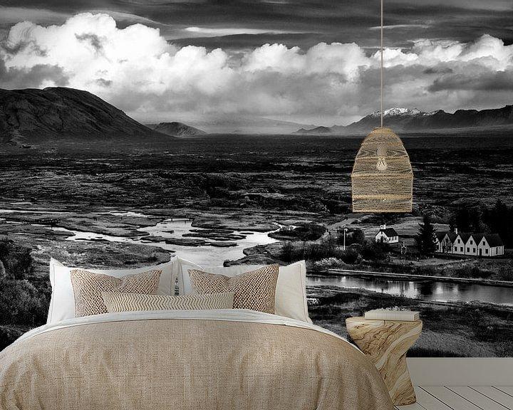 Sfeerimpressie behang: Þingvellir van Jeroen Linnenkamp