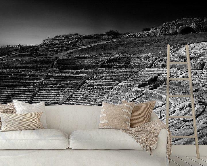 Sfeerimpressie behang: Grieks theater van Jeroen Linnenkamp