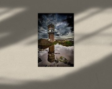 watertoren Indië 2  van Freddy Hoevers