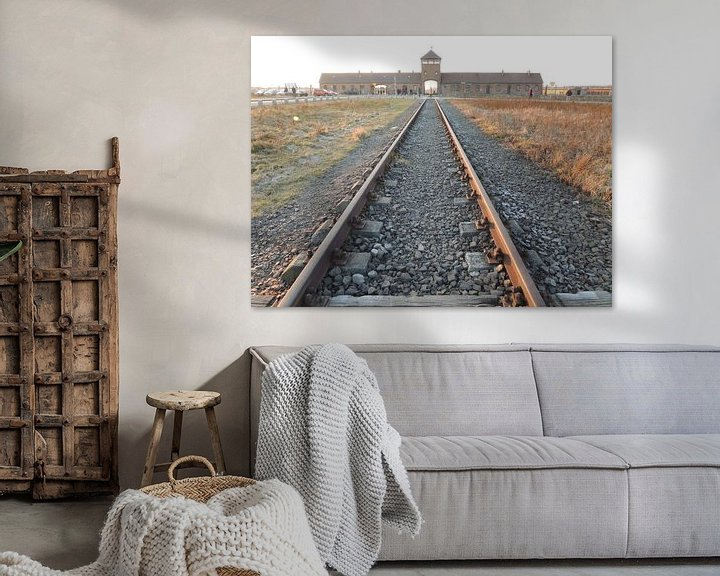 Sfeerimpressie: toegang tot Birkenau van Nadine Geerinck