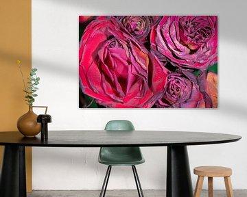 Bouquet von verwelkten Rosen von Peter Apers