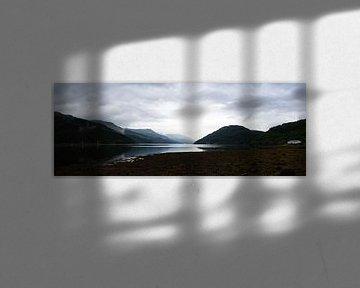 Panorama zicht op Gare Loch in Argyll and Bute Schotland sur Leoniek van der Vliet