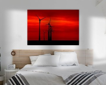 Red sky tonight von Aline van Weert