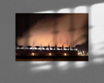 L'industrie chimique la nuit sur Steven Van Aerschot