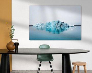 IJsberg in IJsland, Jökulsálón ijsmeer van Marly Tijhaar