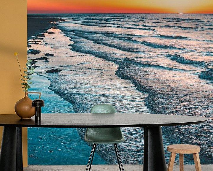 Sfeerimpressie behang: Breezand zonsondergang van Andy Troy