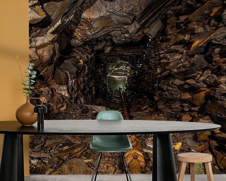 Sfeerimpressie behang: Ondergrondse steengroeve van Bert Beckers