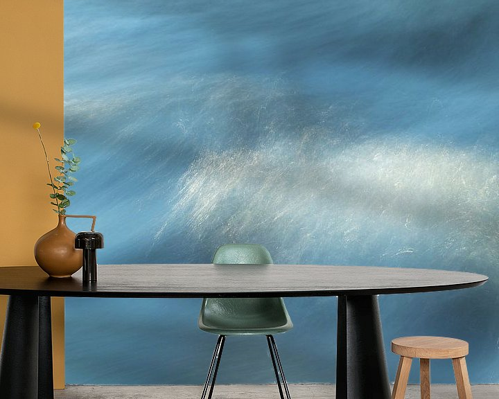 """Sfeerimpressie behang: """"Water motion""""  -  stromend water in een beek (long exposure) van Art Wittingen"""