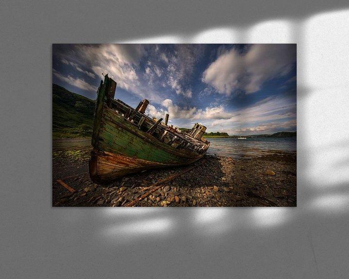 Beispiel: Abandoned boat von Wojciech Kruczynski