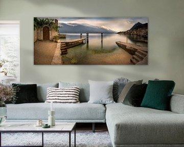 Limone harbour panorama van Wojciech Kruczynski