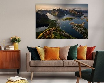 Reinefjorden Panorama von Wojciech Kruczynski