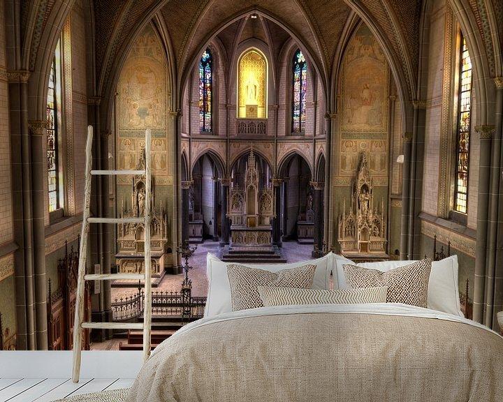 Sfeerimpressie behang: Monestary of the Bright Saint van Nick Raijmakers