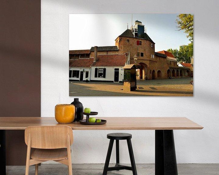 Sfeerimpressie: Vischpoort in Harderwijk van Gerard de Zwaan