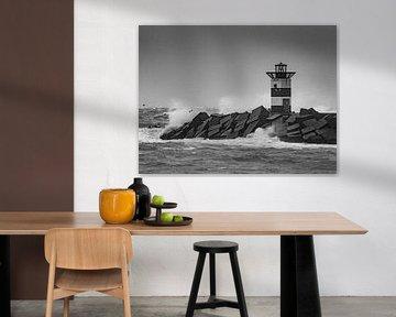 Pier in Scheveningen von Dirk van der Plas